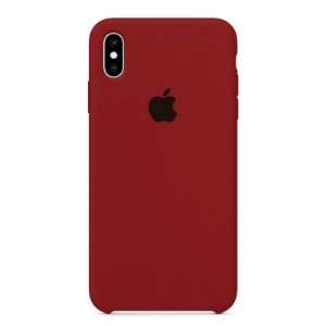 Capa Iphone XS Max Silicone Case Apple Vinho