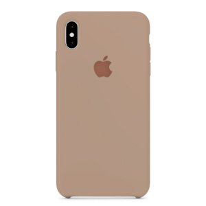 Capa Iphone XS Max Silicone Case Apple Creme