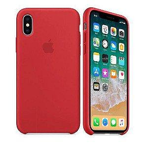 Capa para iPhone X Silicone Case Apple Vermelho