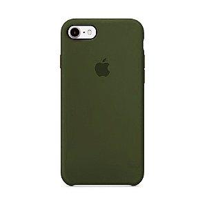 Capa para iPhone 6 e 6s Silicone Case Apple Verde Musgo