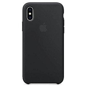 Capa iPhone Xs e X, Apple, Silicone Preto
