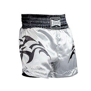 Shorts de Muay Thai Cetim MT11 Tribal Goldem Rudel Sports Tamanho P