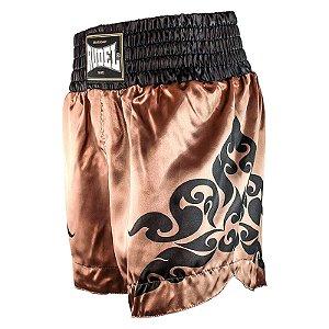 Shorts de Muay Thai Cetim MT12 Corner Goldem Rudel Sports Tamanho P