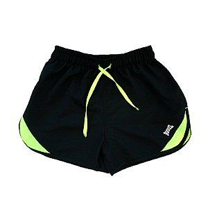 Shorts Masculino Sprint Preto e Verde Rudel Sports Tamanho P