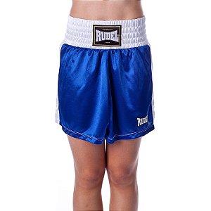 Shorts de Boxe Feminina Classic Azul Rudel Sports Tamanho P