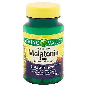 Melatonina Fast-Dissolve Spring Valley 3mg 120Tabletes