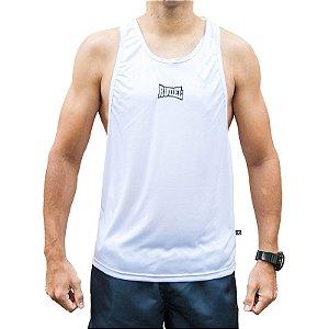 Camiseta Regata Dry II Cavada Branco Rudel Sports Tamanho GGG