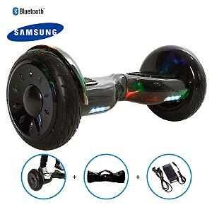 "Hoverboard 10,5"" Verde Hoverboard Bateria Samsung Bluetooth Smart Balance Com Bolsa"