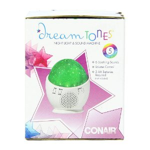 Som Portátil Ruido Branco  Com Led Dream Tones by Conair Night Light & Sound Machine