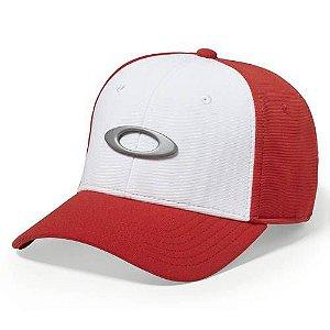 Boné Oakley Tincan Cap Com Branco Vermelho