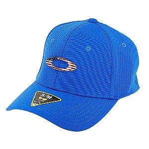 Boné Oakley Tincan Cap Azul Royal Com Logo Usa