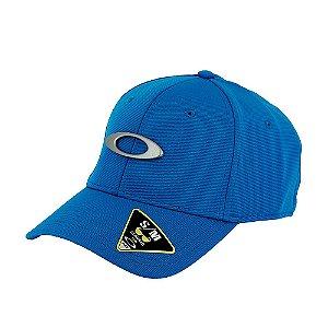 Boné Oakley Tincan Cap Azul Com Logo Prata