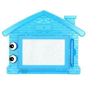 Lousa Mágica Infantil Com Tela Multi Colorida de Casinha Azul