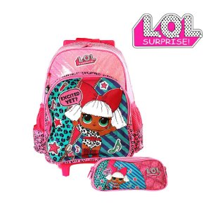 Kit Mochila Infantil Escolar Lol Surprise Com Rodinha - PR