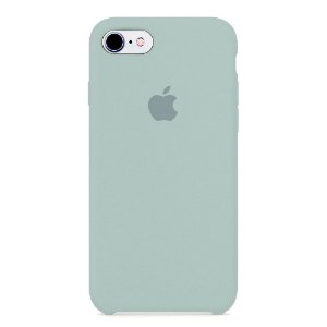Capa Iphone 7/8 Silicone Case Apple Azul Acinzentado