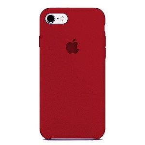 Capa Iphone 7/8 Silicone Case Apple Vinho