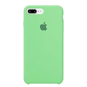 Capa Iphone 7/8 Plus Silicone Case Apple Verde Água