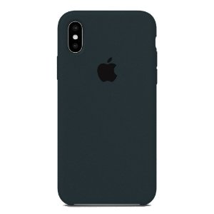 Capa Iphone XS Silicone Case Apple Azul Marinho