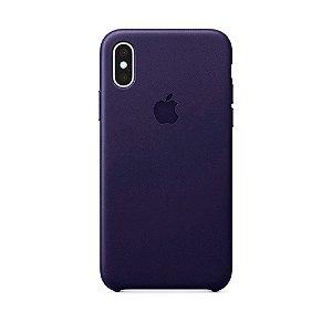 Capa Iphone XS Max Silicone Case Apple Roxo