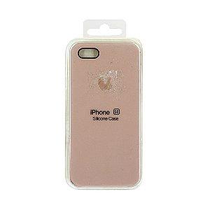 Capa Iphone SE Silicone Case Apple Areia Rosa