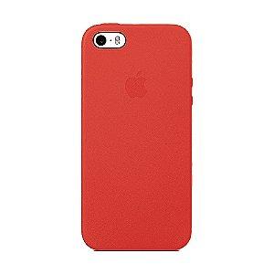 Capa Iphone SE Silicone Case Apple Vermelho Queimado