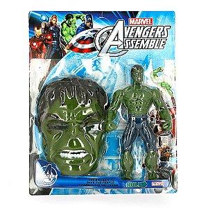 Kit Boneco Hulk Avengers + Mascara Infantil Marvel