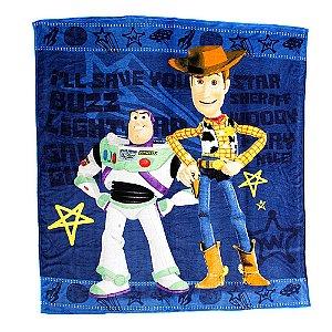 Cobertor Casal Toy Story Buzz Lightyear E Xerife Woody