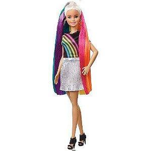Boneca Barbie Lindos Penteados Cabelo Arco-íris - Mattel