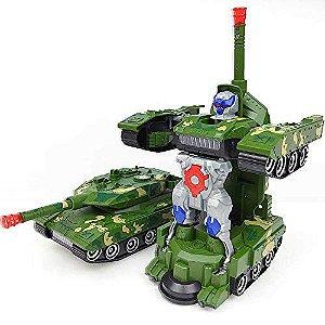 Brinquedo Tanque De Combate Bate E Volta Transformers 2 Em 1