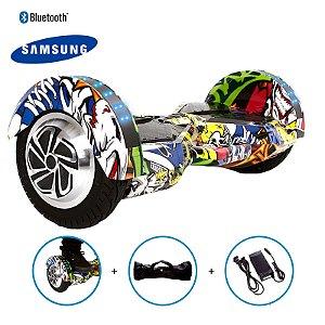 "Hoverboard 8"" Hip-Hop Hoverboard Bateria Samsung Bluetooth Smart Balance Com Bolsa"