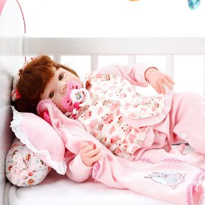 Boneca Bebe Reborn Eloise Cegonha Reborn Dolls Mais 9 Acessórios 48cm
