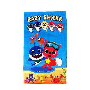 Toalha de Rosto Felpuda Baby Shark Infantil Personagens