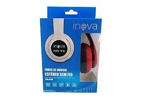Fone De Ouvido Estéreo Bluetooth Sem Fio FON-8158 - Vermelho - Inova