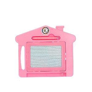 Brinquedo Lousa Mágica Infantil Com Tela Multi Colorida de Casinha Rosa