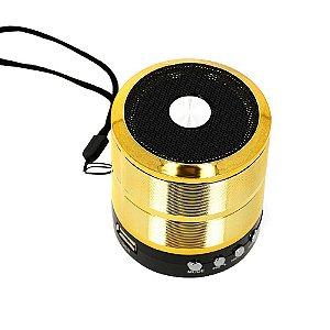 Mini Caixa De Som Portátil Dourada Bluetooth RAD-377Z - Inova