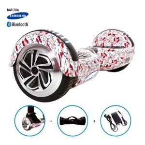 "Hoverboard 6,5"" Hello Kitty HoverboardX Bateria Samsung e Bluetooth Smart Balance Com Bolsa"