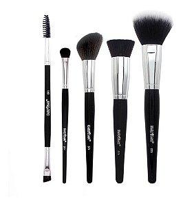 Kit 5 Pincéis Para Maquiagem Evolution Macrilan ST1