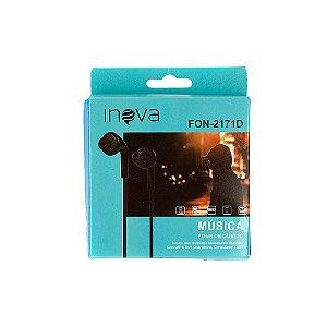 Fone De Ouvido Estéreo Tipo Samsung Preto FON-2171D - Inova