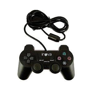 Controle PS2 Com Vibração Simples e Direção Analógica CON-8198 - Inova