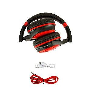 Fone De Ouvido Estéreo Sem Fio Vermelho FON-8160 - Inova