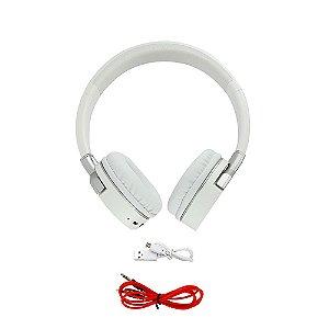 Fone De Ouvido Estéreo  Sem Fio Dobrável FON-8156 - Branco - Inova