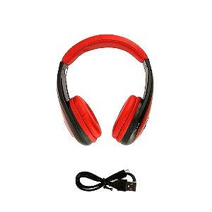 Fone De Ouvido Estéreo Sem Fio Dobrável Vermelho FON-6700 - Inova