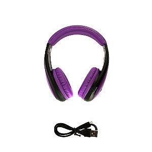 Fone De Ouvido Estéreo Sem Fio Dobrável Roxo FON-6700 - Inova