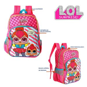 Mochila Infantil Escolar De Costa Brilhante Lol Surprise