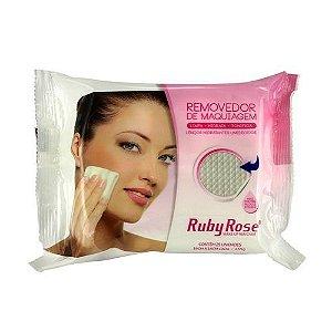 Lenço Demaquilante Umedecido Removedor De Maquiagem 25 unidades- Ruby Rose HB-200