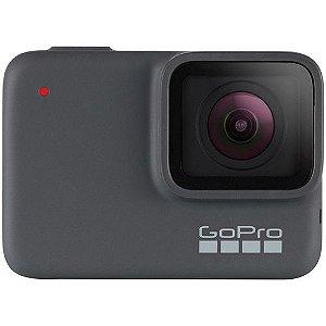 """Câmera GoPro Hero 7 Silver 10MP Á Prova De Água Gravação 4K HD Display 2"""" Touch"""