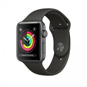 Relógio Apple Watch Series 3 Gps 38mm Space Gray Alumínio Pulseira Sport Preto