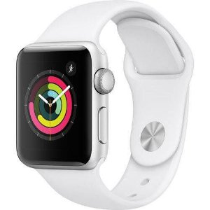 Relógio Apple Watch Series 3 Gps 38mm Silver Alumínio Pulseira Sport Branco