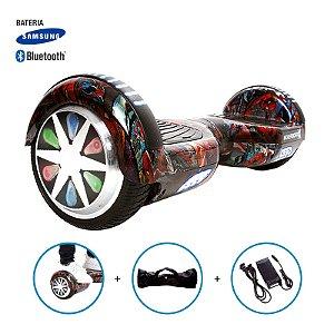 """Hoverboard 6,5"""" HQ Homem Aranha HoverboardX Bateria Samsung e Bluetooth Smart Balance Com Bolsa"""