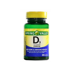 Vitamina D3 50mcg 2000IU 250 Cápsula Em Gel